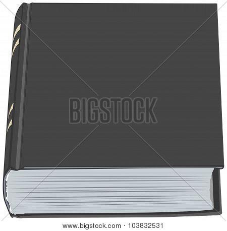 Black closed book hardcover