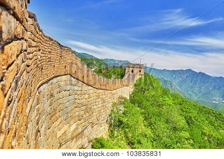 Close-up Great Wall Of China, Section