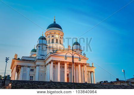 Helsinki Cathedral - Helsingin tuomiokirkko is the Finnish Evang