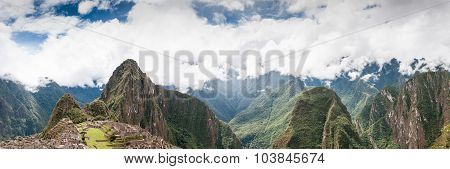 Machu Picchu Panorama Peru, South America Unesco World Heritage