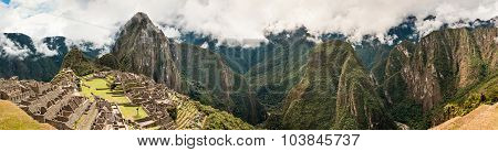 Machu Picchu Panorama Peru, South America Unesco World Heritage