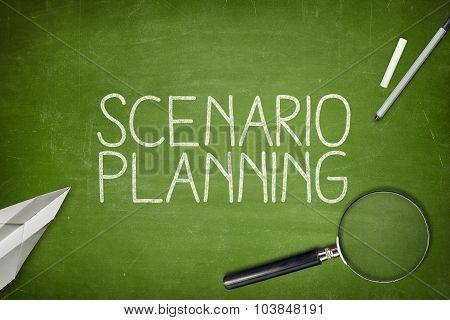 Scenario planning concept on blackboard