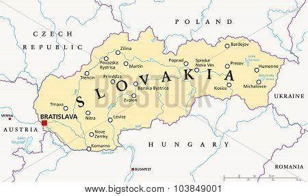 Slovakia Political Map