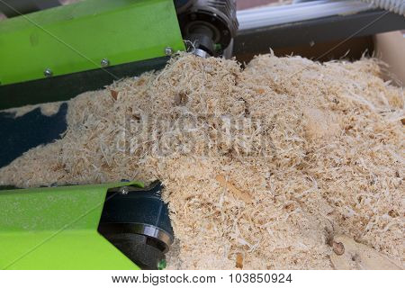 Woodworking The Machine Tool, Wood Factory. Wood Shavings