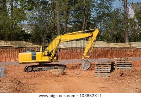 Yellow Loader By Excavation
