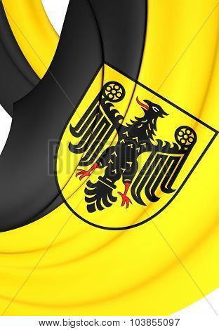 Flag Of Goslar City (lower Saxony), Germany.