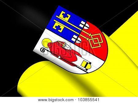 Flag Of Krefeld City (north Rhine-westphalia), Germany.