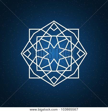 Sacred geometry illustration.