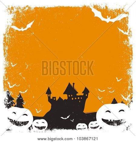 Halloween themed background with space for text and isolated borders