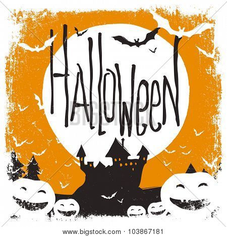 Halloween illustration with isolated borders