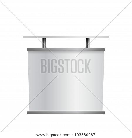 Vector Illustration of advertise mock up for Design, Website, Background, Banner. Stand marketing Element Template for your business brand poster