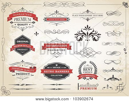 Vintage Label Ornament Divider Vector