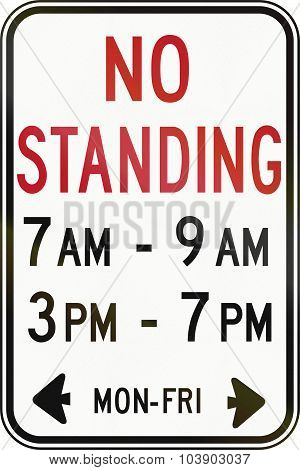 No Standing In Specified Time In Canada