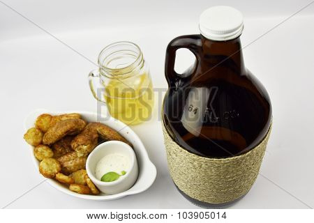 Beer Growler With Chicken