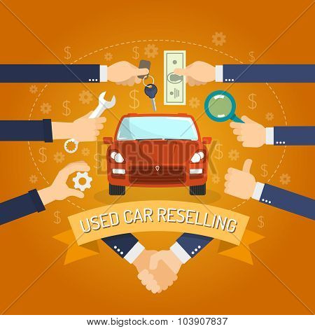 Car Reselling Concept