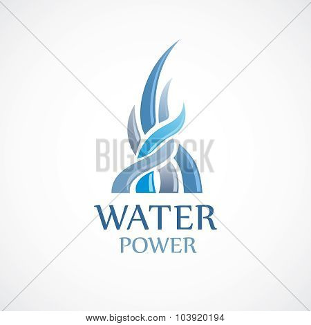 Upstream Water Flows Logo Template