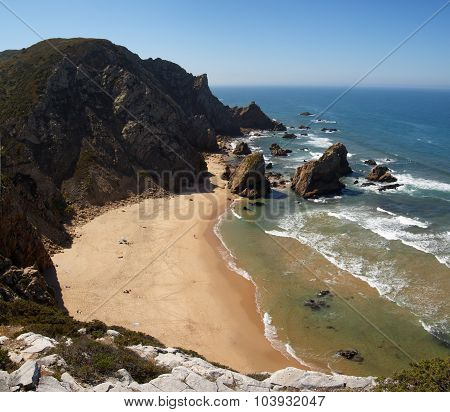 Ursa Beach From Top Of Cliff, Cape Roca