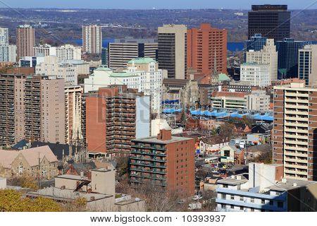 General View Of Downtown Hamilton, Ontario, Canada.