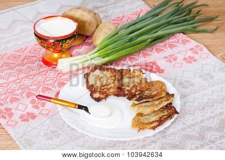 Potato Flapjacks With Sour Cream