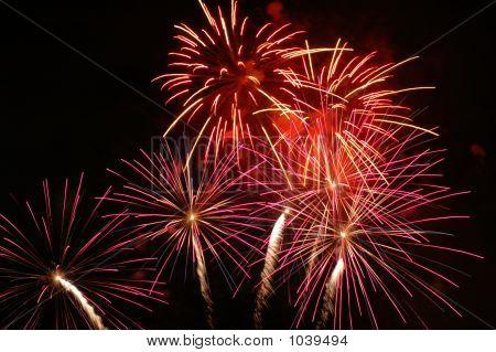 fireworks taken during the portland rose festival 2006 poster