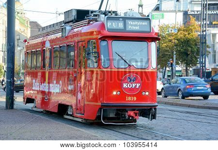 The Helsinki trams