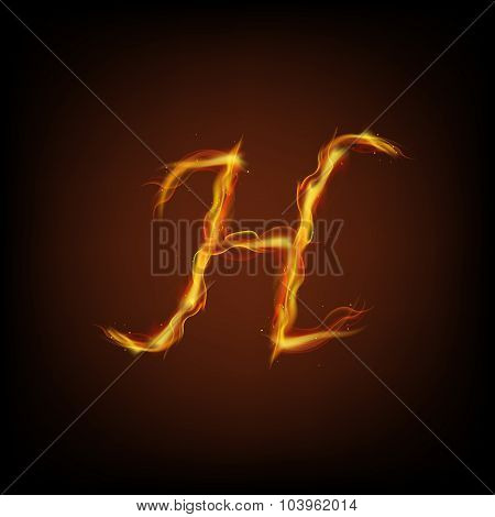 Alphabets of fire