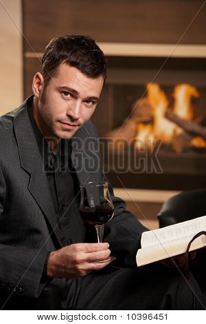 Businessman Relaxing After Work