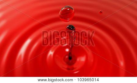 Drop Of Red Wine Macro With The Focus Effect (drop 2)