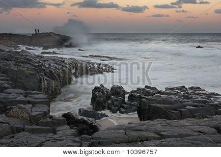 Fishermen On Sheffield Beach At Sunset 1