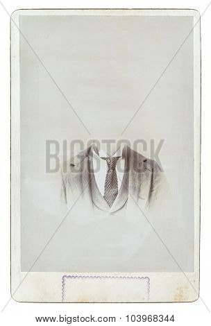 vintage cabinet photograph isolated on white background with clipping path