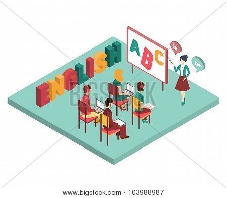 English Class Vector Illustration