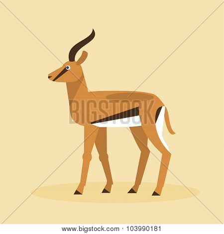 Antelope. Vector Illustration