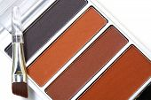 Makeup eyebrow powder colors isolate on white background poster