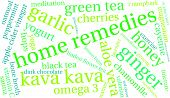 Home remedies word cloud on a white background. poster