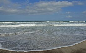 Beach, Waves, And Sand-atlantic Ocean