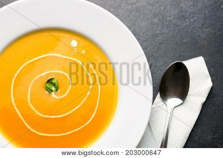 Colorful Butternut Squash Soup.