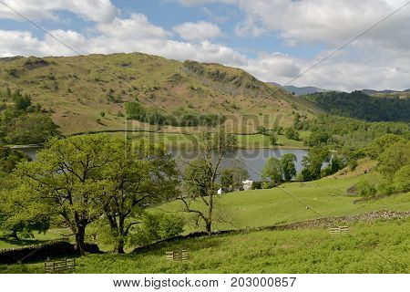 View over Rydalwater in the English Lake District
