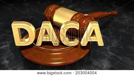 DACA Deferred Action For Childhood Arrivals Legal Concept 3D Illustration