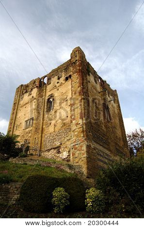 Angled view of Guilford castle in Surrey England