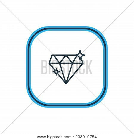 Beautiful Marriage Element Also Can Be Used As Brilliant Element.  Vector Illustration Of Diamond Outline.