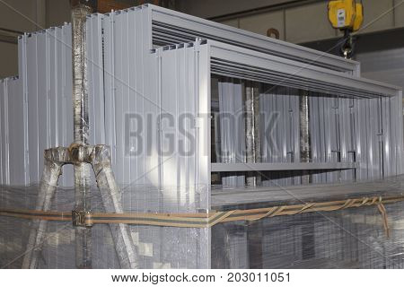 Various elements of steel structures for further assembly Russia