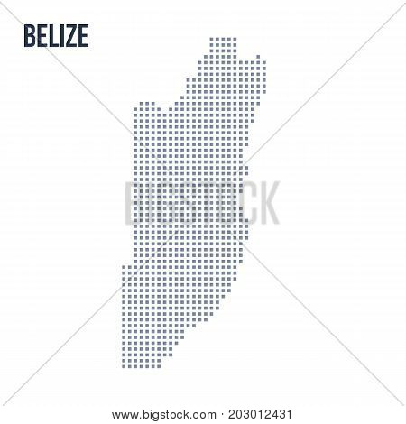 Vector Pixel Map Of Belize Isolated On White Background