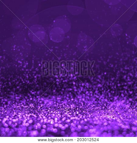 Abstract Pruple Glitter Perspective To Blank Background,studio Style Mock Up For Adding Your Product