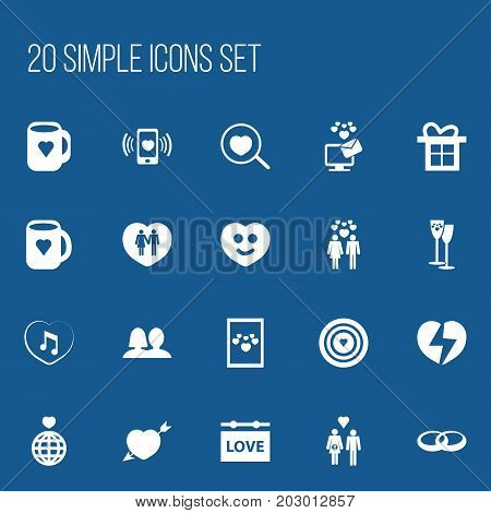 Set Of 20 Editable Passion Icons. Includes Symbols Such As Beau, Aim, Image And More