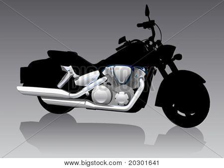 Motocicleta de gráfica de vector en Chrom