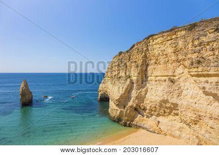 Wonderful view of Carvalho beach, Algarve Portugal