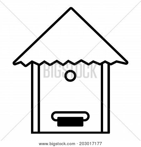 Tree beehive icon. Outline illustration of tree beehive vector icon for web design isolated on white background