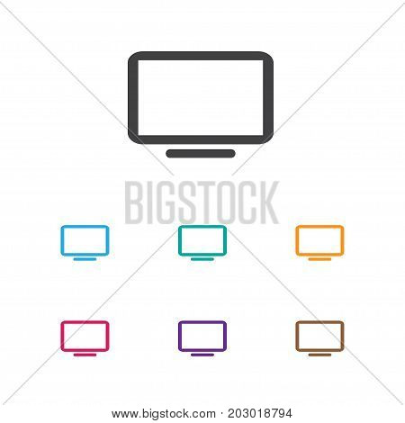 Vector Illustration Of Devices Symbol On Telly Icon