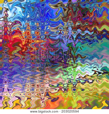 Abstract coloring background of the horizon gradient with visual wave,slice,spherize, twirl,pinch and lighting effects