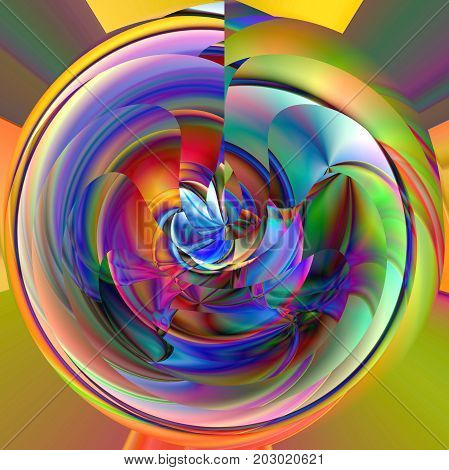 Abstract coloring background of the horizon gradient with visual wave,slice,poolar coordinates, twirl,pinch and lighting effects